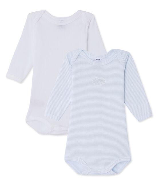 Set van 2 bodies met lange mouwen voor babyjongens set .