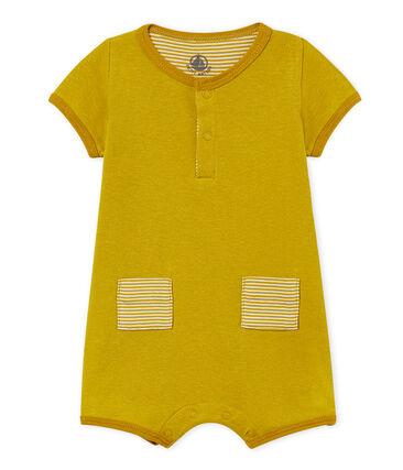 Korte playsuit van katoen/linnen voor babyjongens