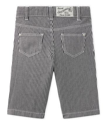 Pantalon bébé garçon rayé bleu Smoking / blanc Marshmallow
