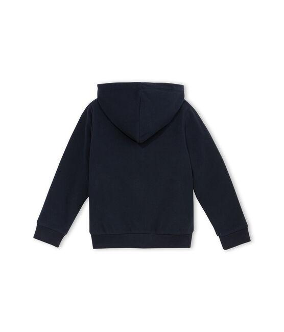 Sweatshirt met rits van fleece blauw Abysse