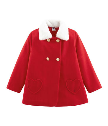 Manteau enfant fille rouge Froufrou