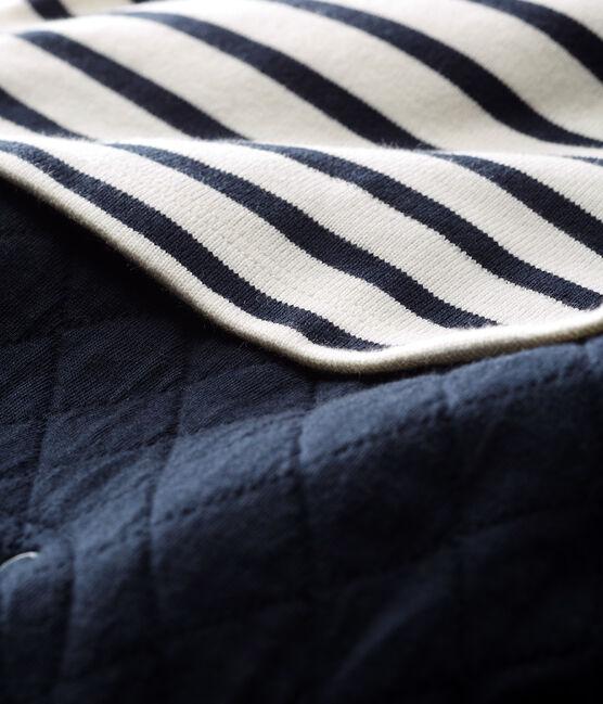Lang babypakje faux two-pieces babyjongen wit Marshmallow / blauw Smoking