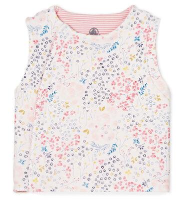 Tweezijdig mouwloos vest voor babymeisjes wit Marshmallow / wit Multico