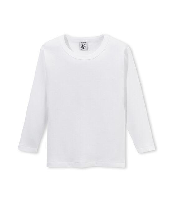 T-shirt garçon manches longues blanc Lait
