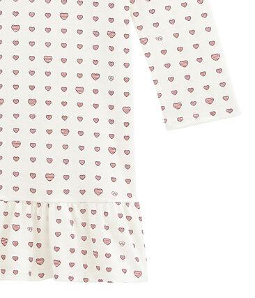 Meisjesnachthemd in ribkatoen