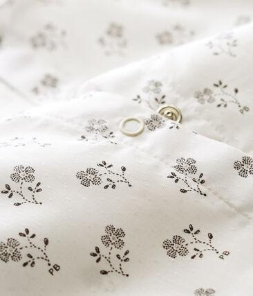 Korte playsuit voor babymeisjes wit Marshmallow / wit Multico