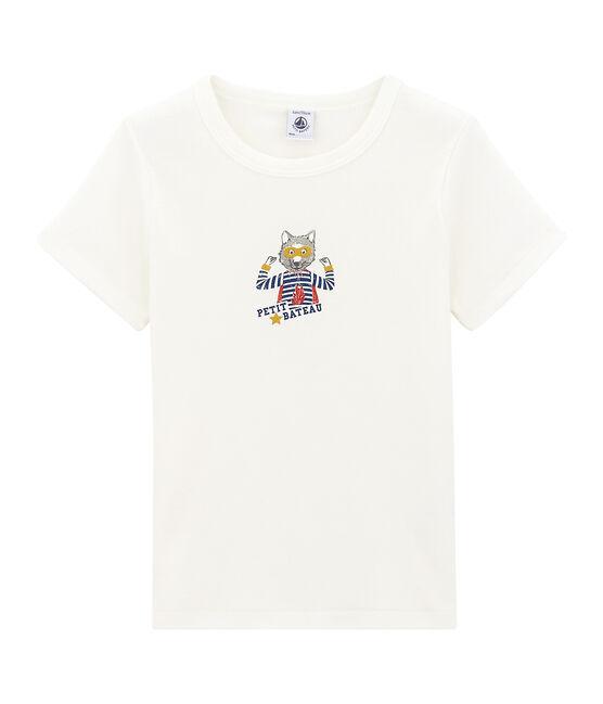 Jongens tee-shirtmet korte mouwen wit Marshmallow