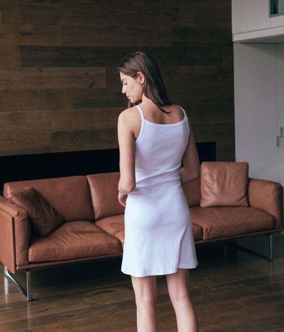 Robe femme blanc Ecume