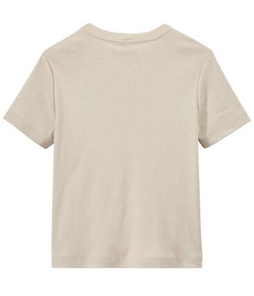 Jongens-T-shirt met motief wit Feta