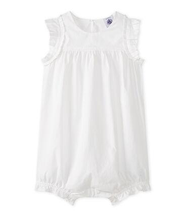 Kort babypakje meisjes wit Ecume