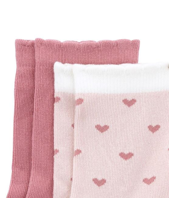 Set van 2 paar sokken: effen en dessin set .