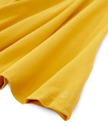 Meisjesjurk met korte mouwen geel Boudor