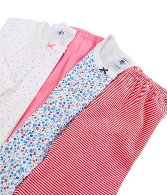 Set van meisjespyjama's van gebreide stof set .