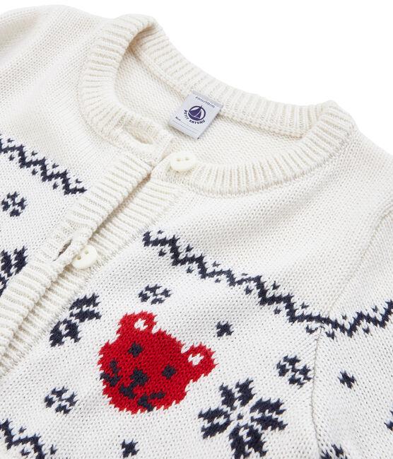Cardigan enfant mixte blanc Marshmallow / blanc Multico