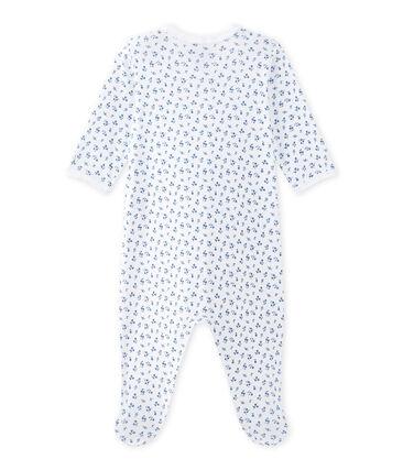 Pyjama met dessin voor babymeisjes wit Ecume / blauw Bleu