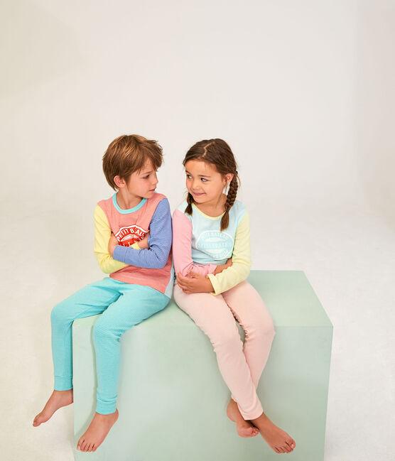 Jongenspyjama van ribstof wit Marshmallow / wit Multico