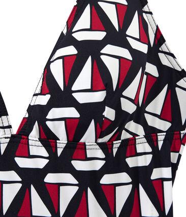 Eendelig damesbadpak met print
