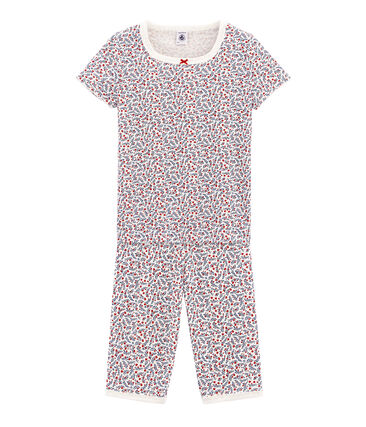Korte meisjespyjama in ribkatoen