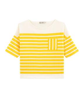 Dames marinetrui geel Shine / wit Marshmallow