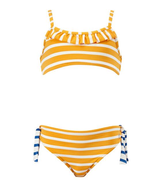 Meisjesbikini oranje Fusion / wit Marshmallow