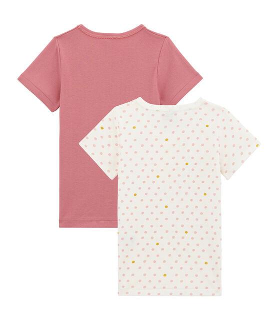 Set van 2 meisjes T-shirts met korte mouwen set .