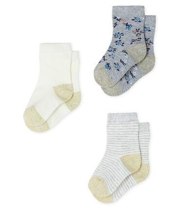 Set van 3 paar sokken voor baby meisje