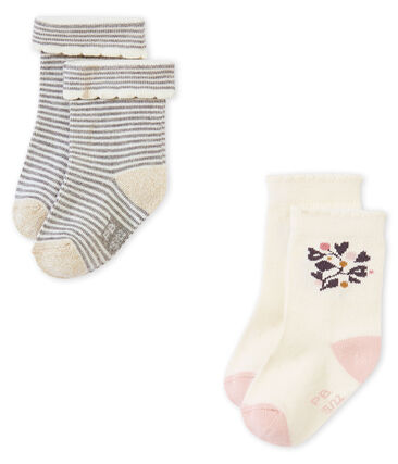 Lot de deux paires de chaussette bébé filles