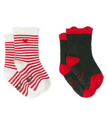 Set van 2 paar sokken voor baby meisje