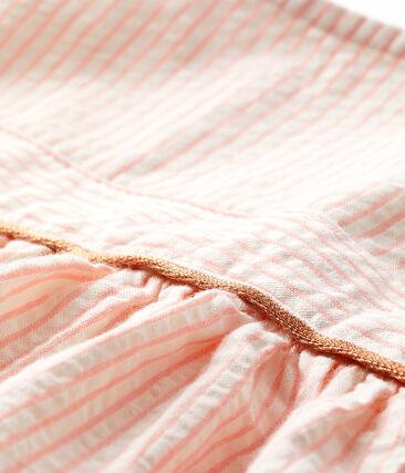 Robe manches courtes rayée bébé fille