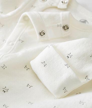 Combisac bébé mixte en tubique imprimé blanc Marshmallow / noir Noir