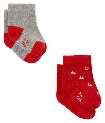 Lot de deux paires de chaussettes bébé garçon