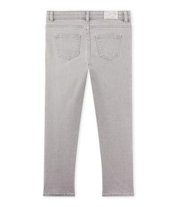 Pantalon garçon en jean gris