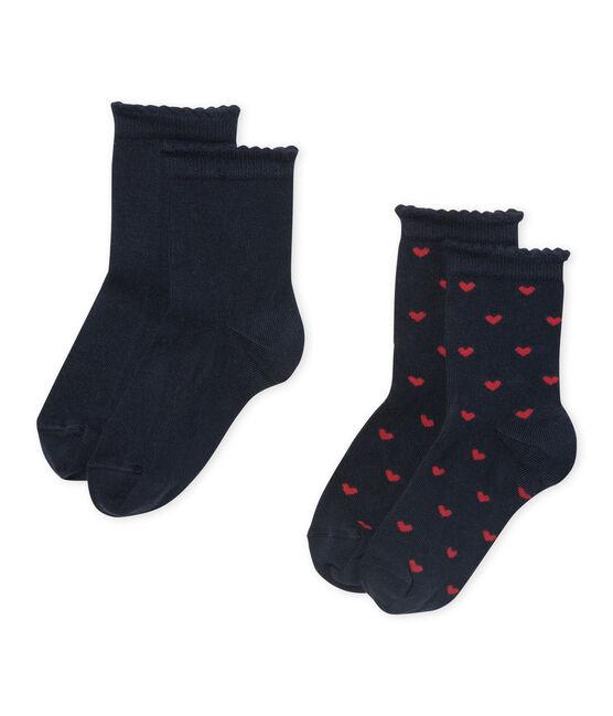 Lot de 2 paires de chaussettes fille lot .