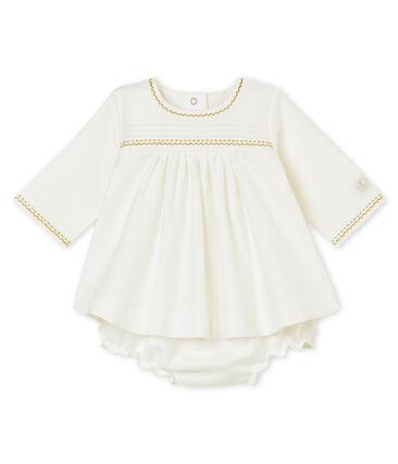 Jurk en pofbroekje voor babymeisjes wit Marshmallow