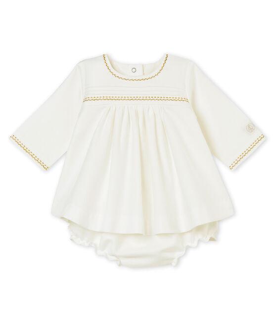 Robe et bloomer bébé fille blanc Marshmallow