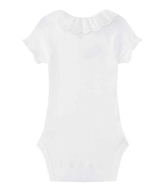 Body naissance bébé fille blanc Ecume