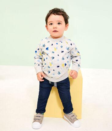 Sweatshirt bébé garçon imprimé gris Beluga / blanc Multico