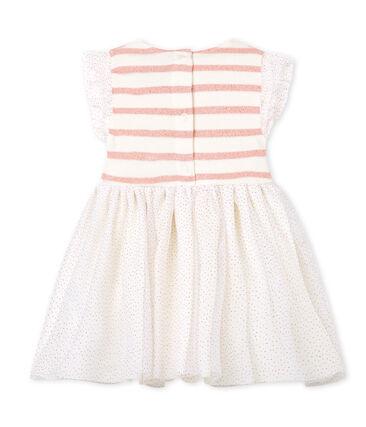 Mouwloze jurk in 2 stoffen voor babymeisjes