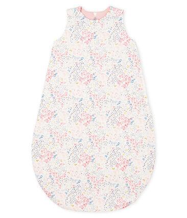 Omkeerbare trappelzak babymeisje wit Marshmallow / wit Multico