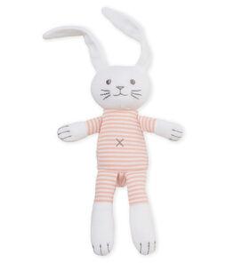 Doudou lapin hochet bébé mixte