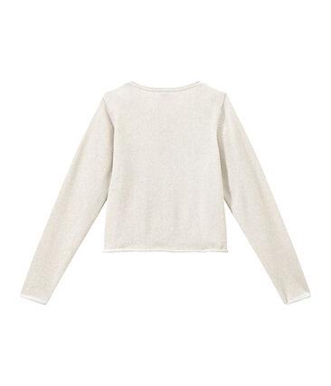 Feestelijke cardigan meisjes wit Ecume / bruin Em Dore