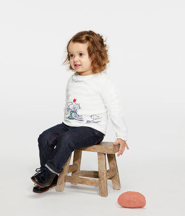 Blouse met lange mouwen babymeisje wit Marshmallow