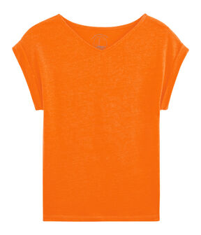 Linnen damesshirt oranje Tiger