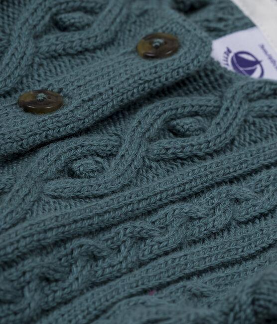 Cardigan met kabelpatroon blauw Atlantic