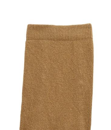 Meisjeskousenbroek in jersey bruin Brindille