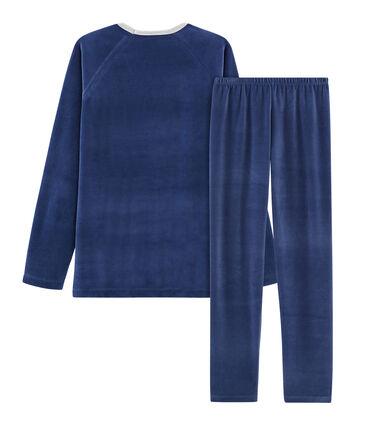 Fluwelen jongenspyjama blauw Medieval / blauw Major