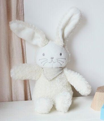 Konijn muzikale babyknuffel van fleece katoen wit Marshmallow