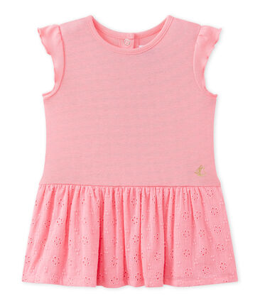 Jurk met vlindermouwen voor babymeisjes roze Petal