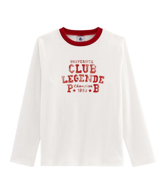 T-shirt voor jongens wit Marshmallow