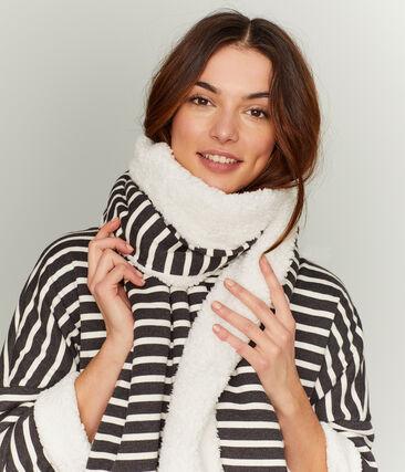 Omkeerbare sjaal vrouwen zwart City / beige Coquille